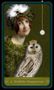 Christephania Kipper Kartenlegen Karte Nr.-2 Weibliche Hauptperson
